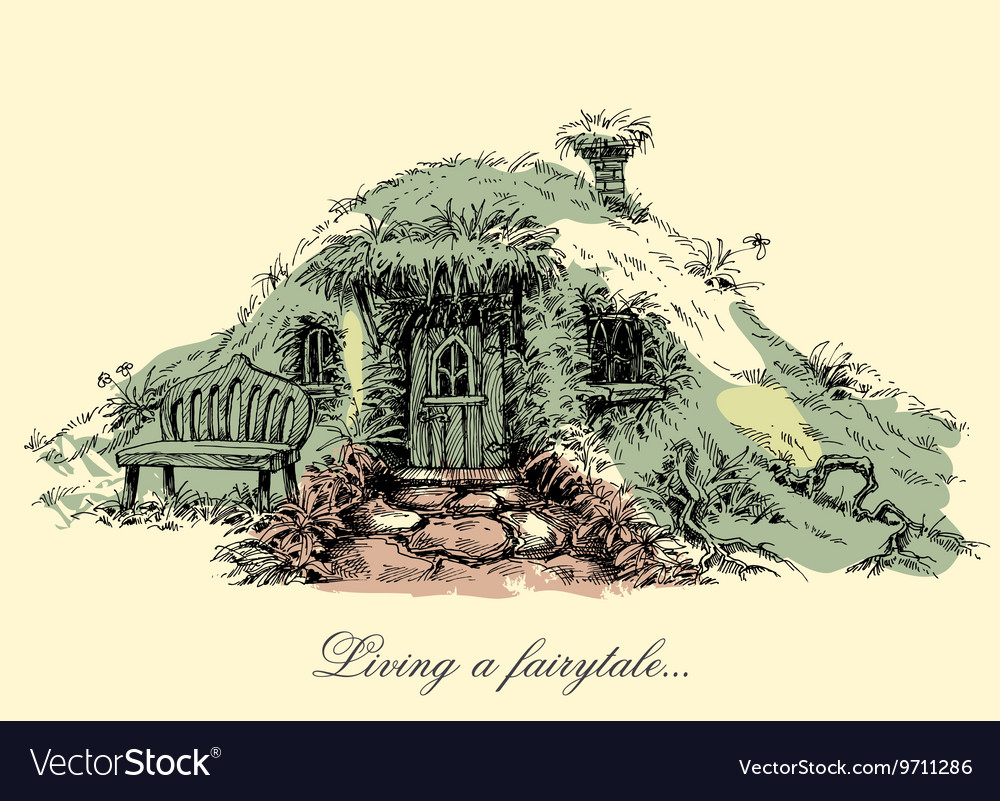A small mysterious house from fairy tales Dwarf