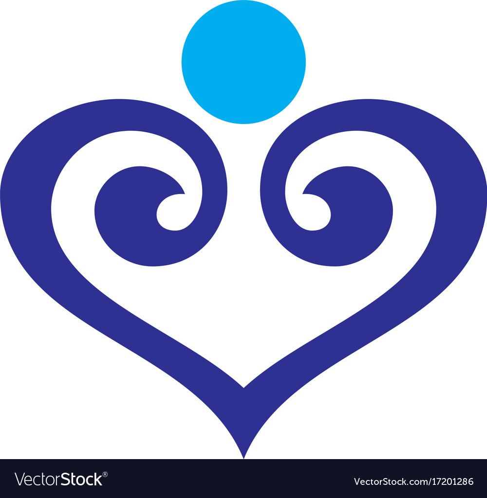 Abstract love icon logo