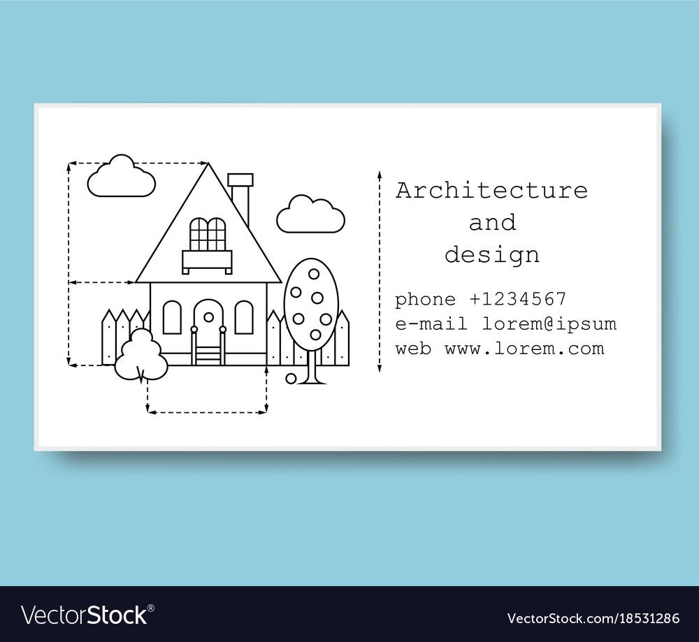 Business card for construction company royalty free vector business card for construction company vector image colourmoves