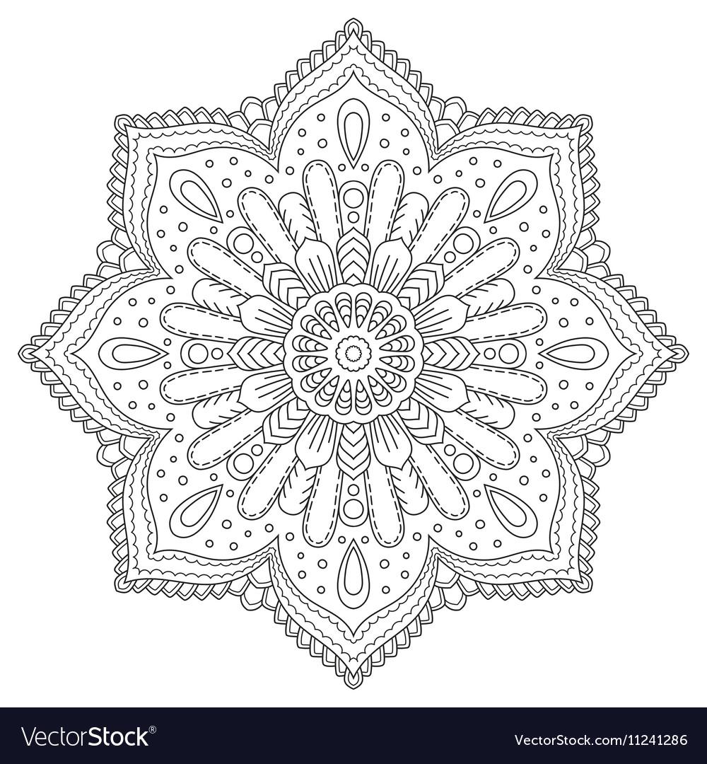 Circle floral pattern