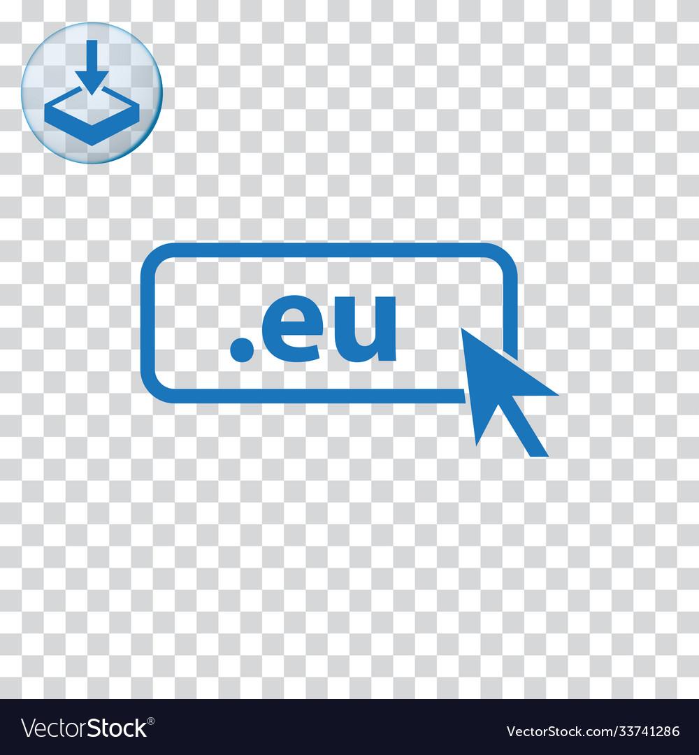 Domain eu icon top-level internet