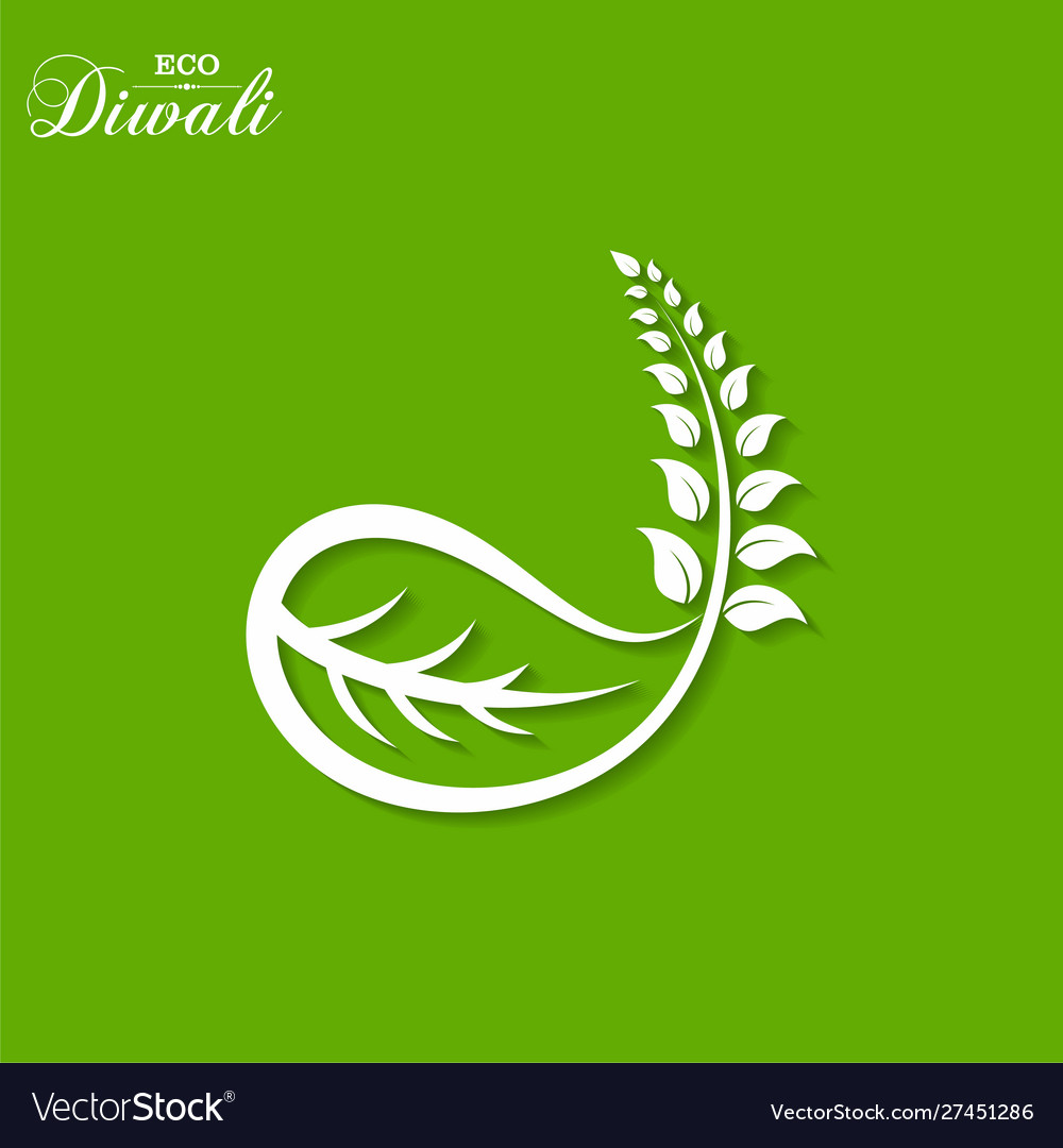 Greeting for celebrate green diwali concept