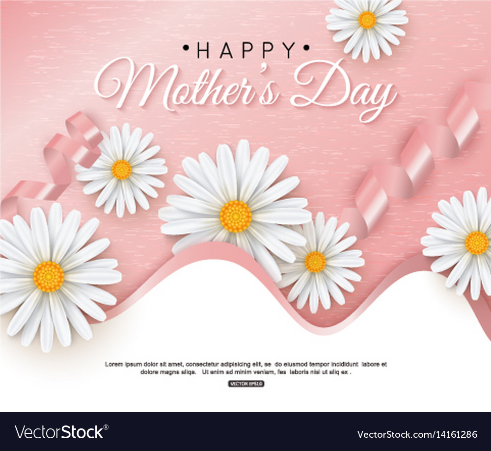 Happy mothers day greeting card with typographic
