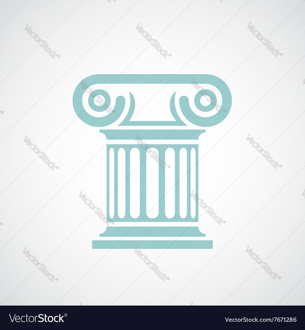 Logo marble columns