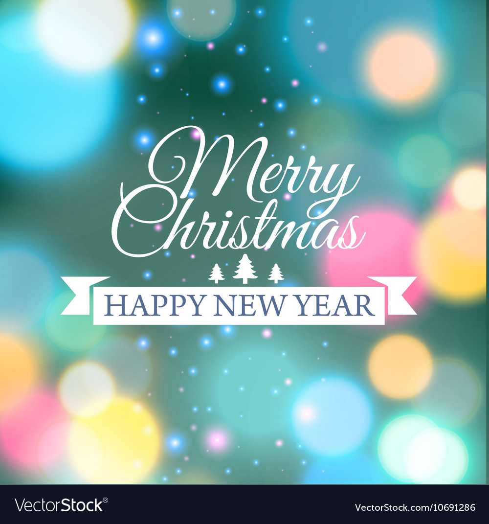 Merry Christmas E Card Template Royalty Free Vector Image