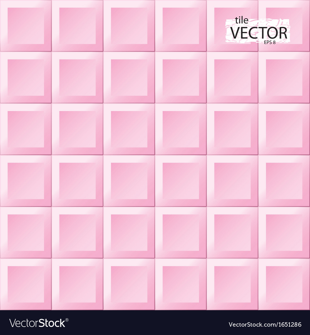 Pink tiles pattern