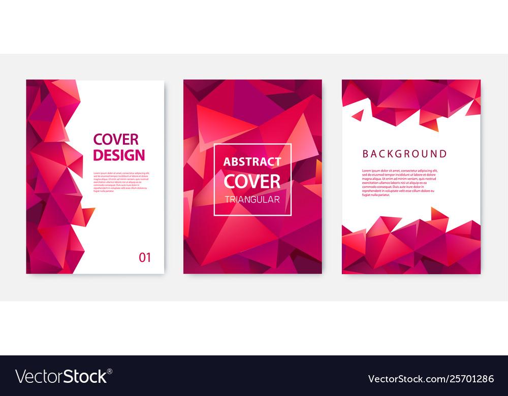 Set modern cover design templates