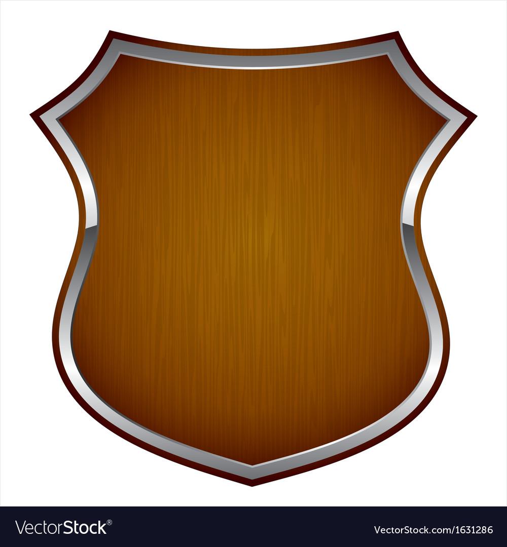 wooden shield royalty free vector image vectorstock rh vectorstock com vector shield shape vector shield image