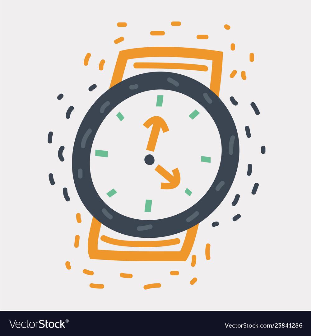 Wristwatch icon on white