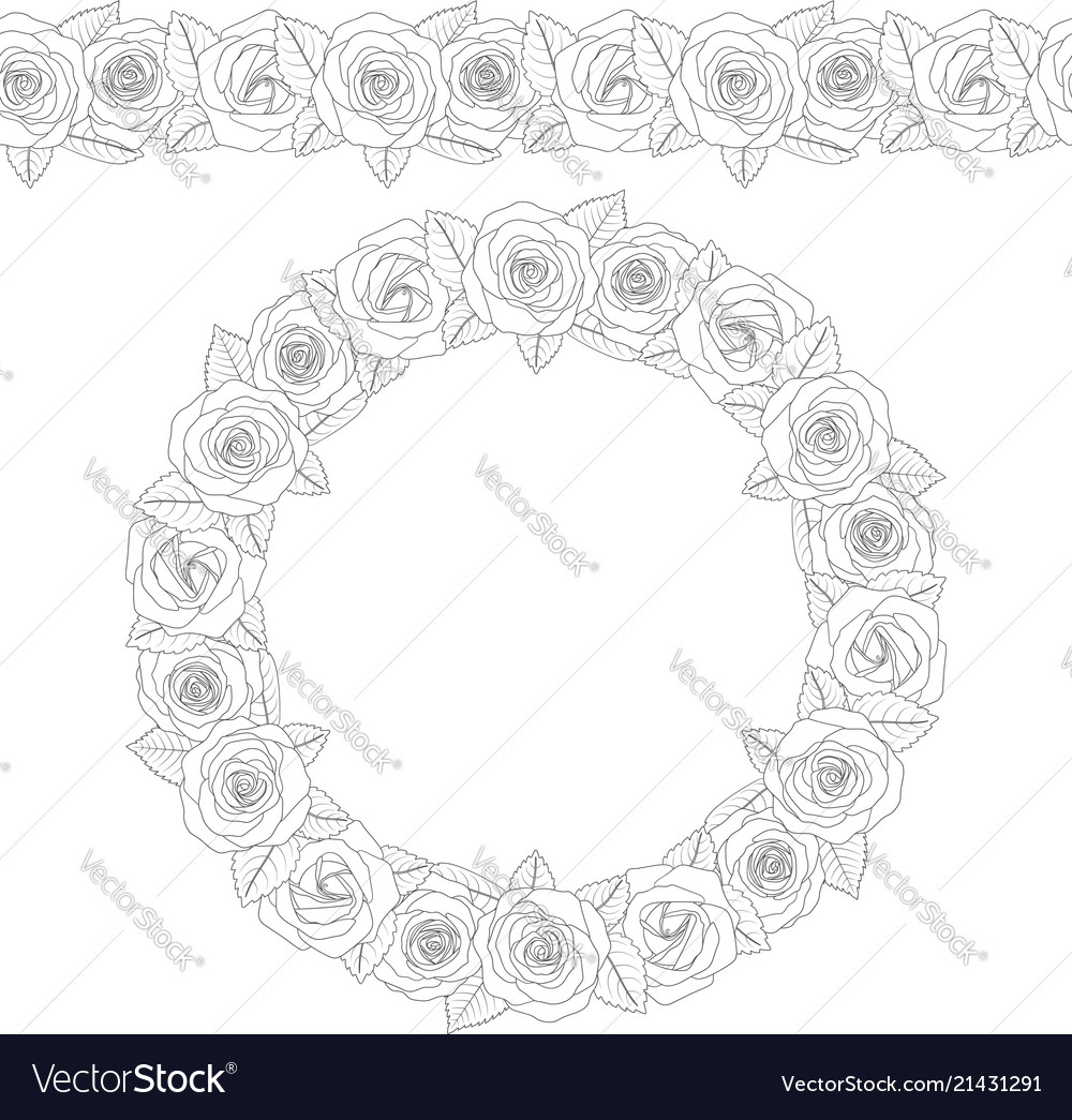 A round wreath of roses