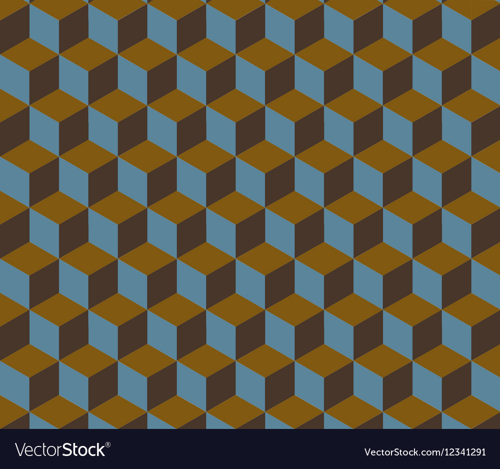 Abstract Retro Isometric Shape Background vector image