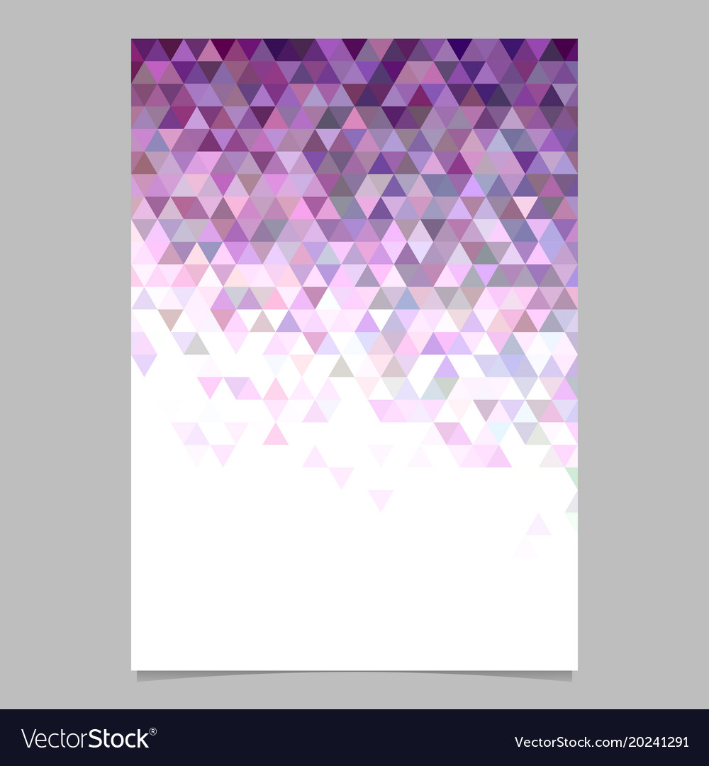 Abstract triangle brochure background template