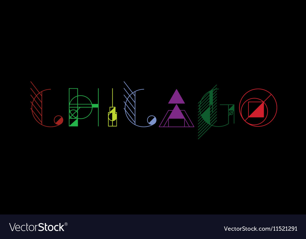 7b20dbac Chicago city typography Royalty Free Vector Image