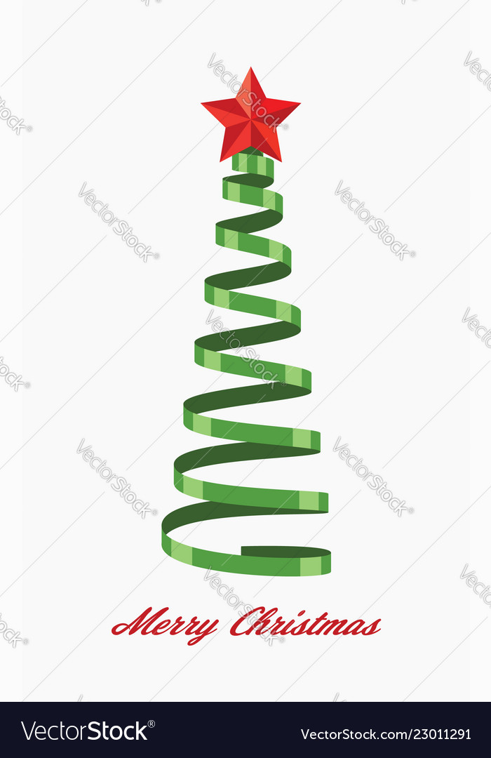 Greeting cards with christmas tree
