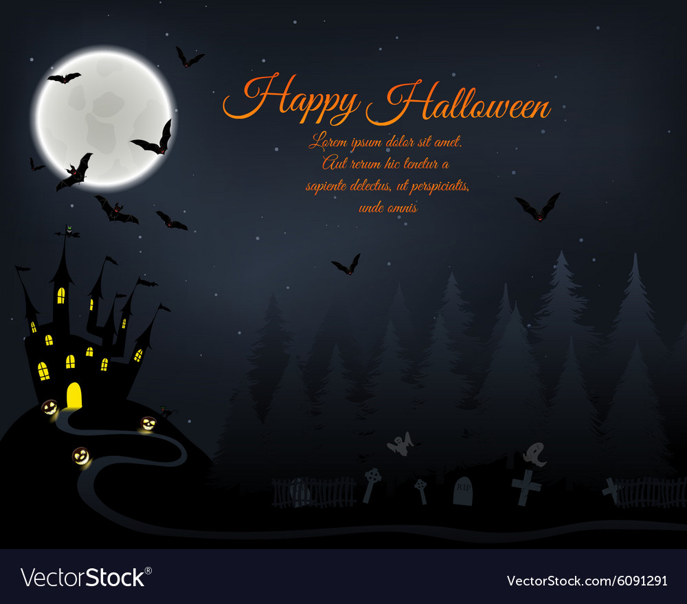 halloween greeting card royalty free vector image