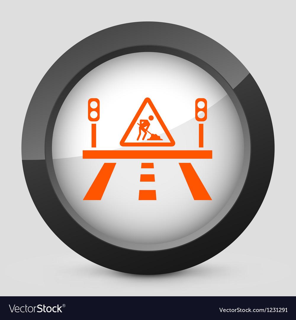 Orange and gray elegant glossy icon