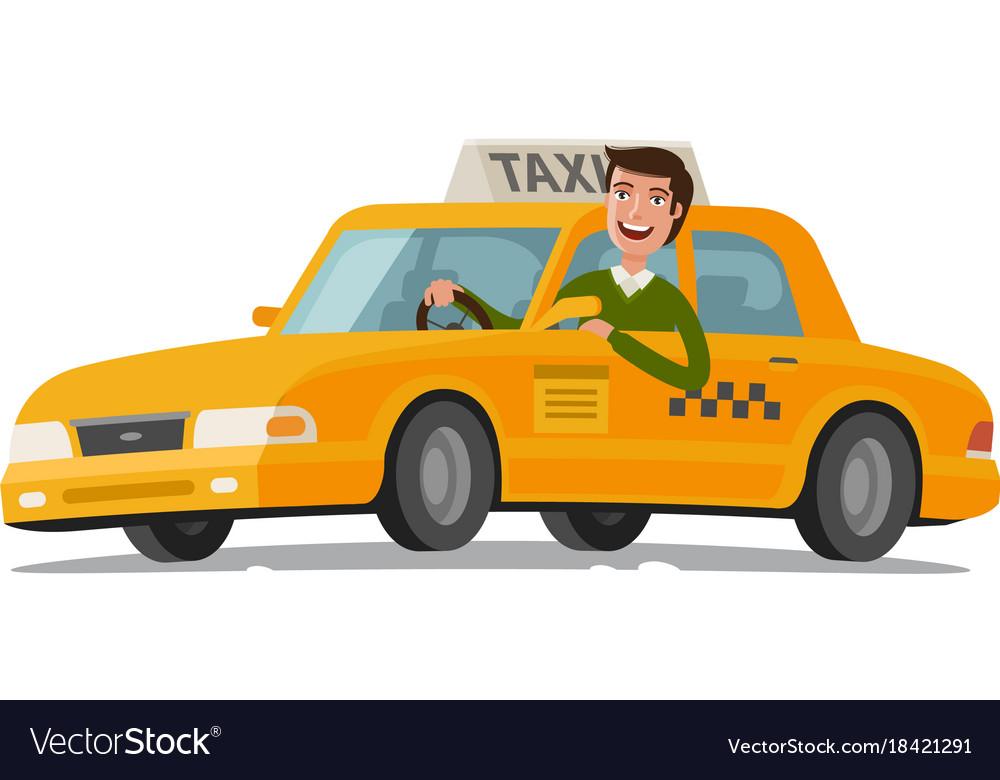 Taxi driver concept car transport