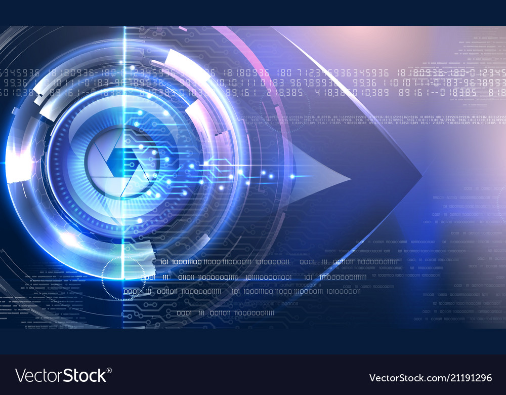 Abstract cyber eye with glowing background