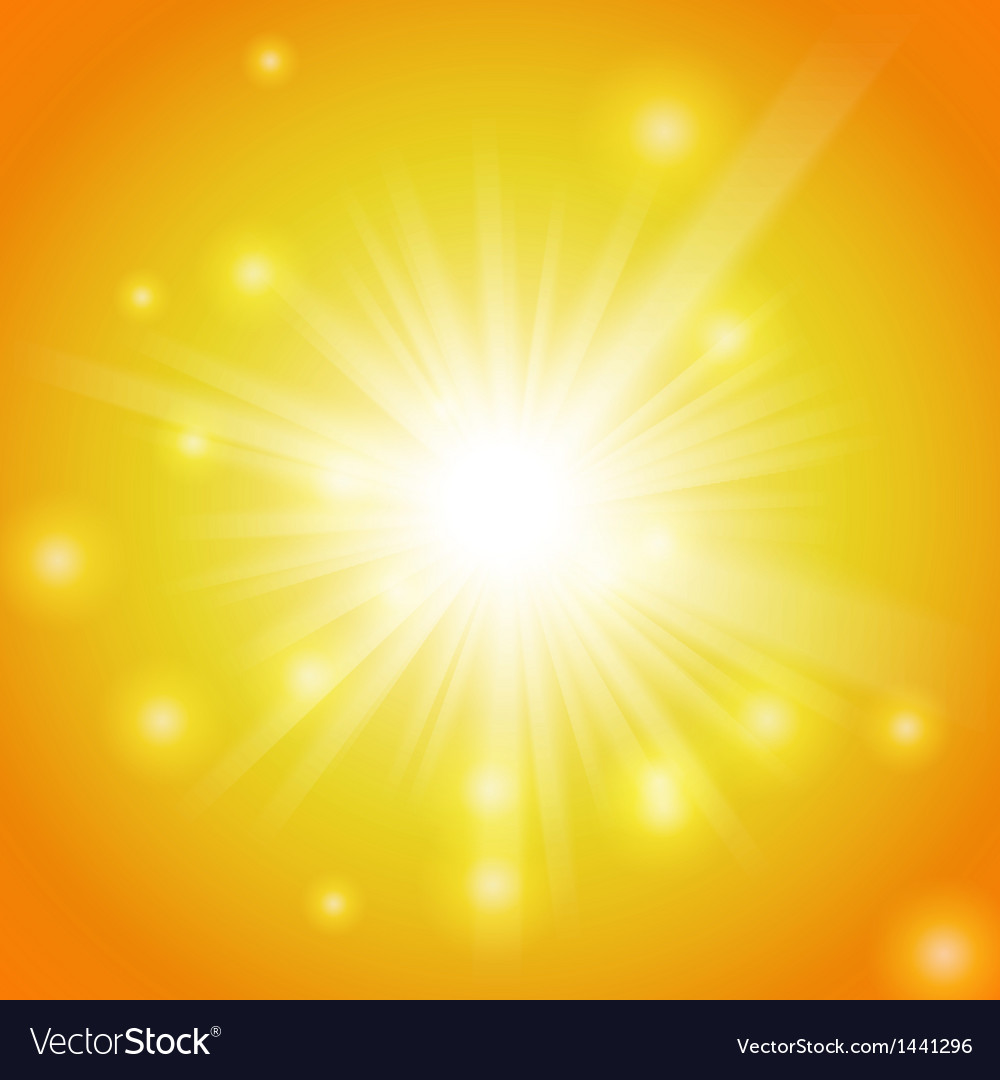 Abstract magic yellow light background vector image