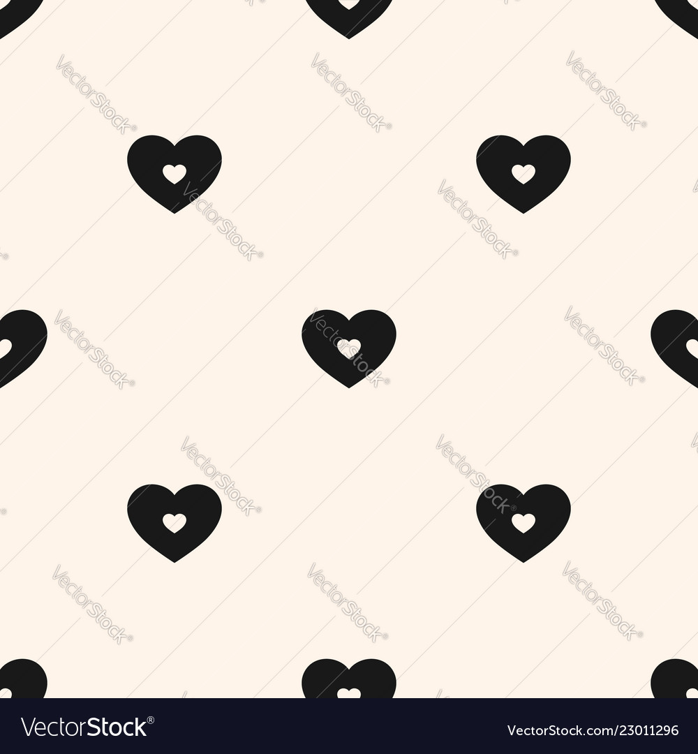 Black and white hearts pattern valentines day