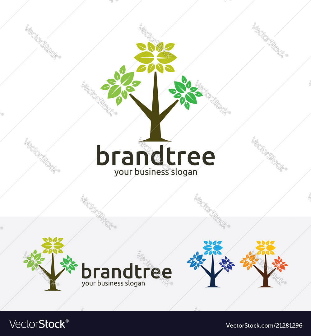 Brand tree logo design