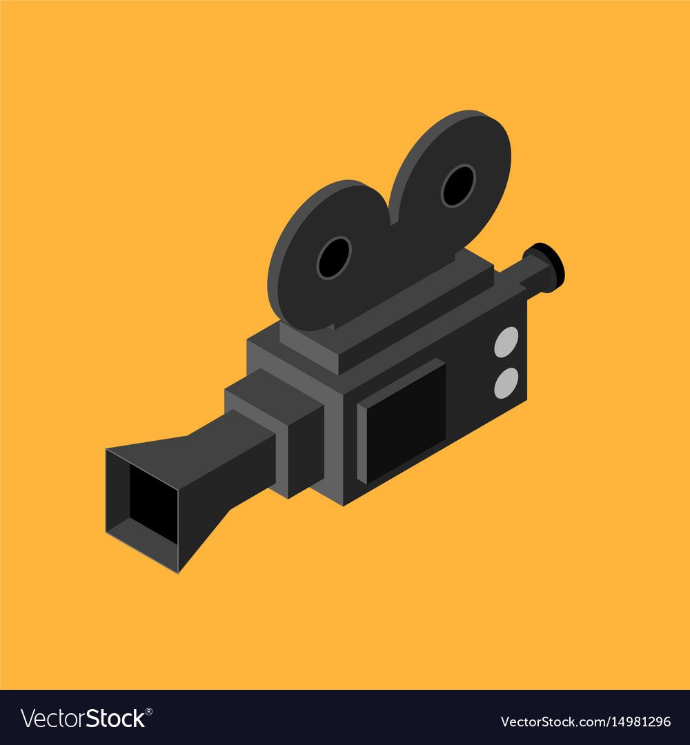 Cinema video camera isometric view