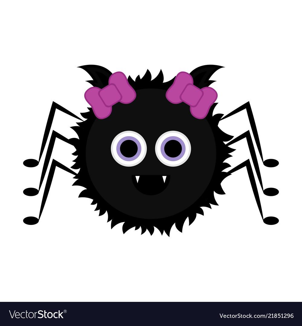 Cute halloween spider cartoon character Royalty Free Vector
