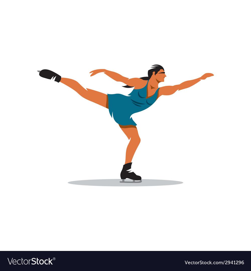 Figure skating sign vector image