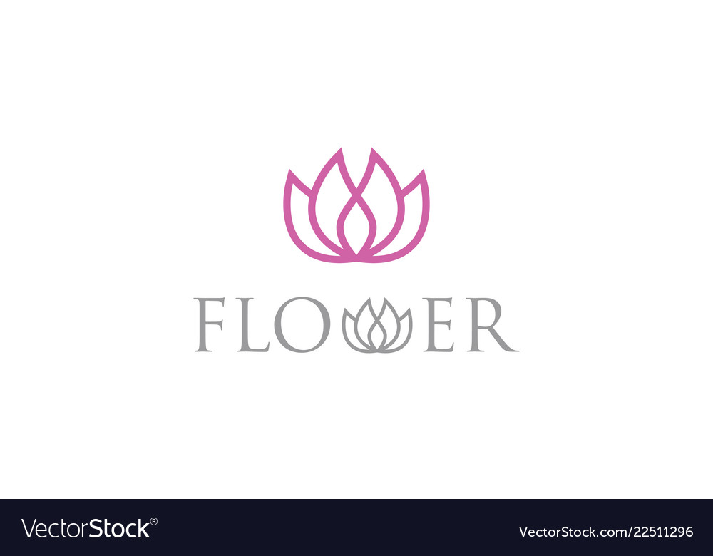 Flower beauty logo
