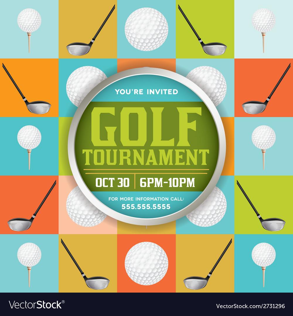 Golf Tournament Pattern Invitation