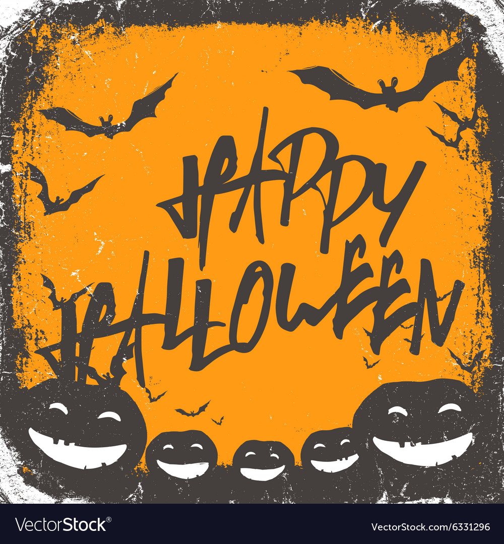 Halloween background hand drawn lettering