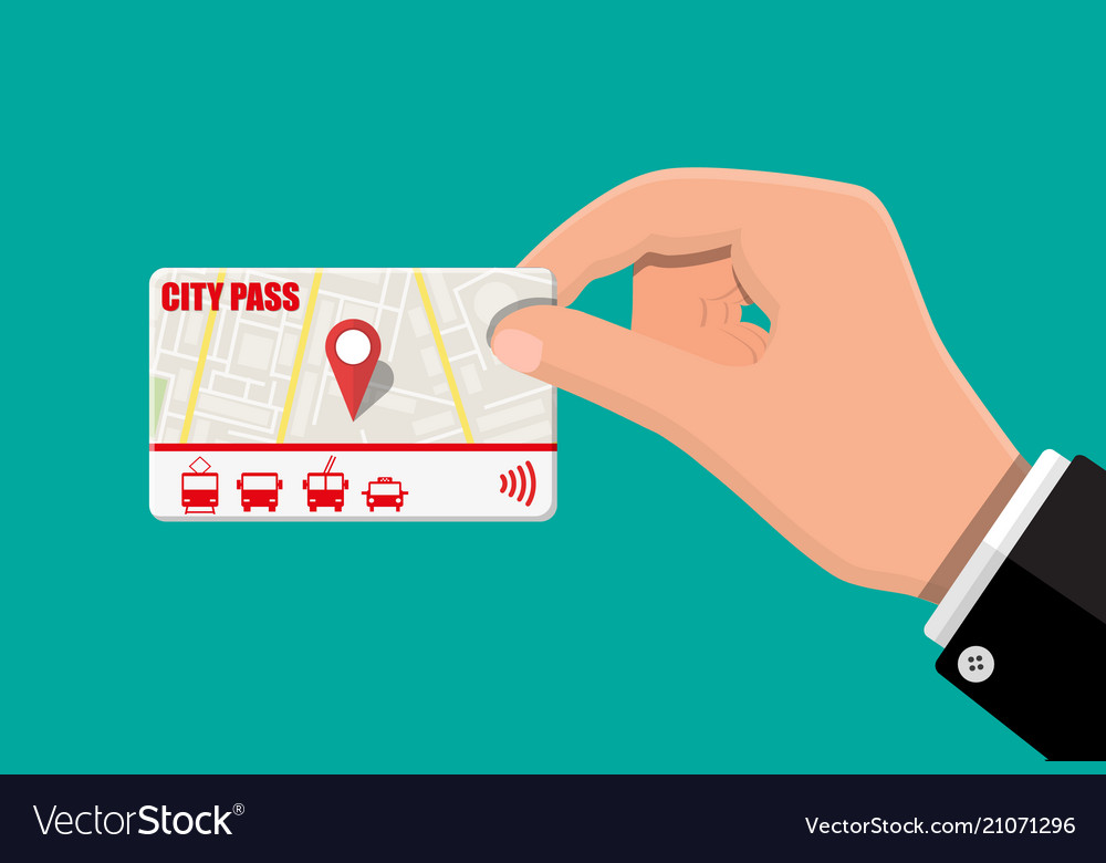 Hand with city pass