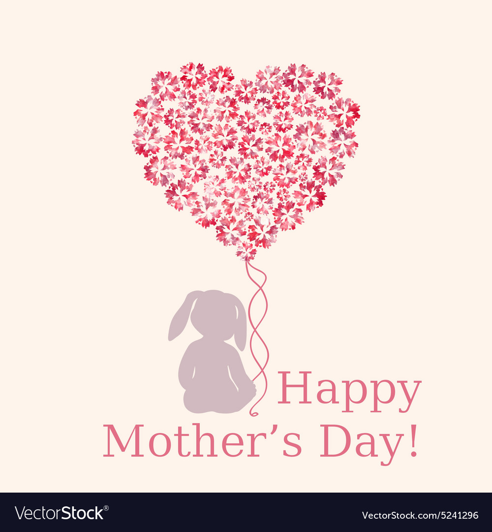 happy mothers day template royalty free vector image