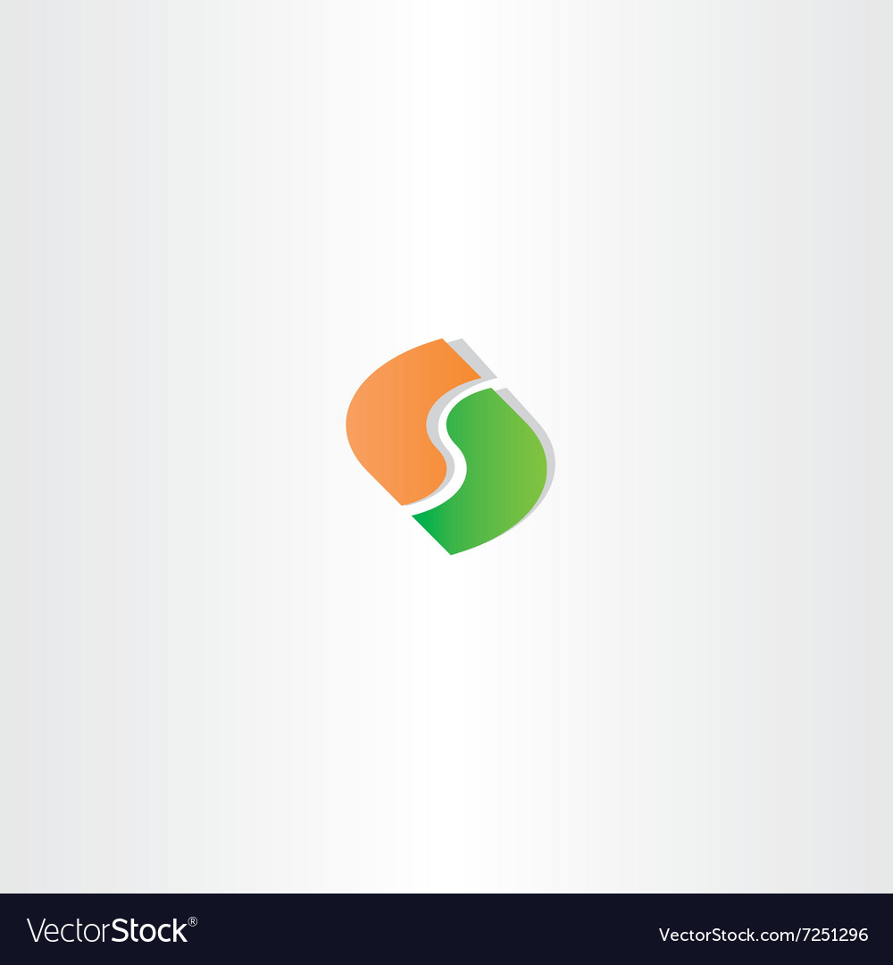 Letter s green orange logo icon