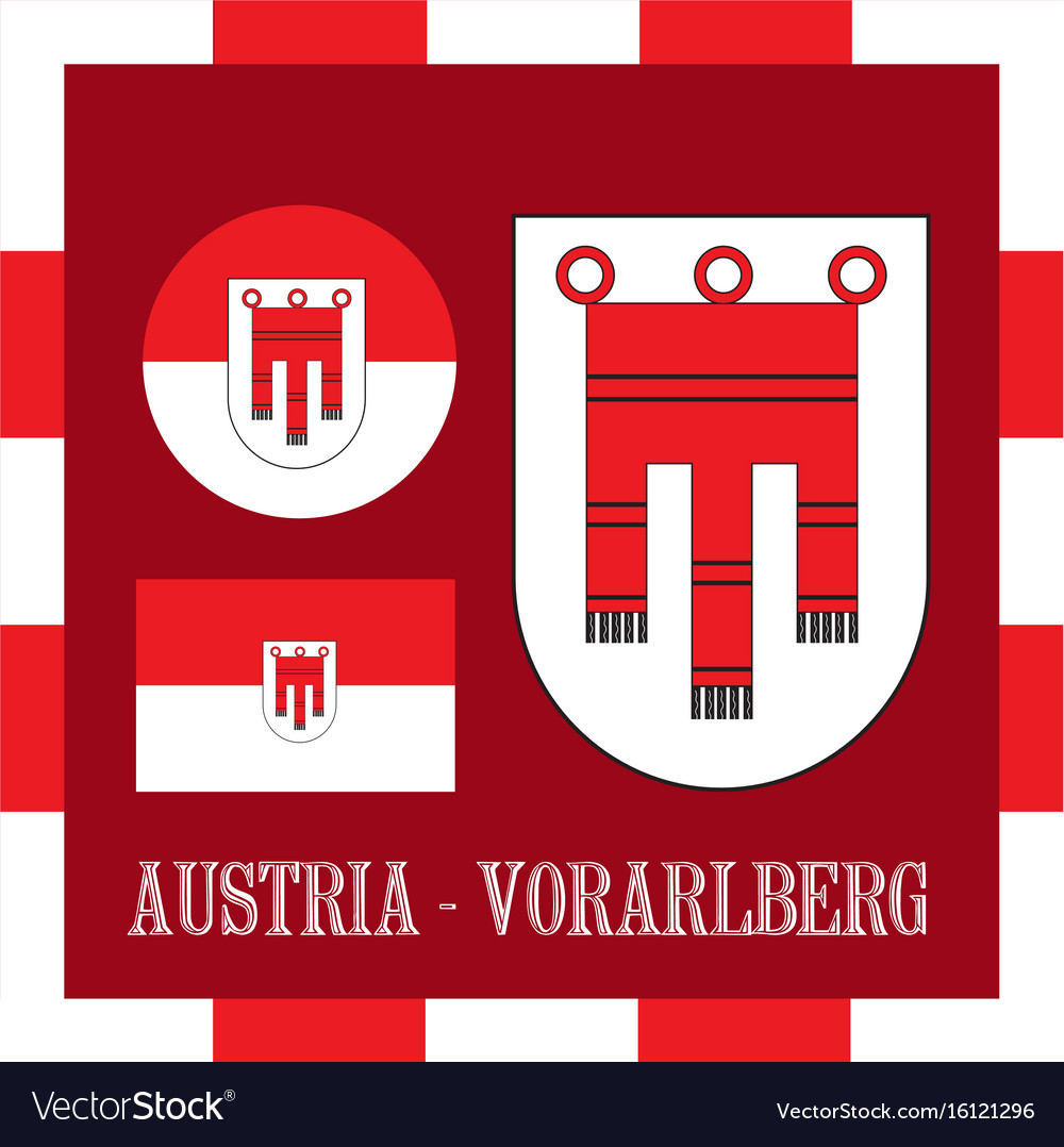 National ensigns of vorarlberg - austria vector image