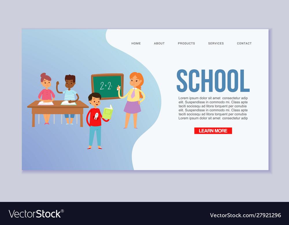 School children template of