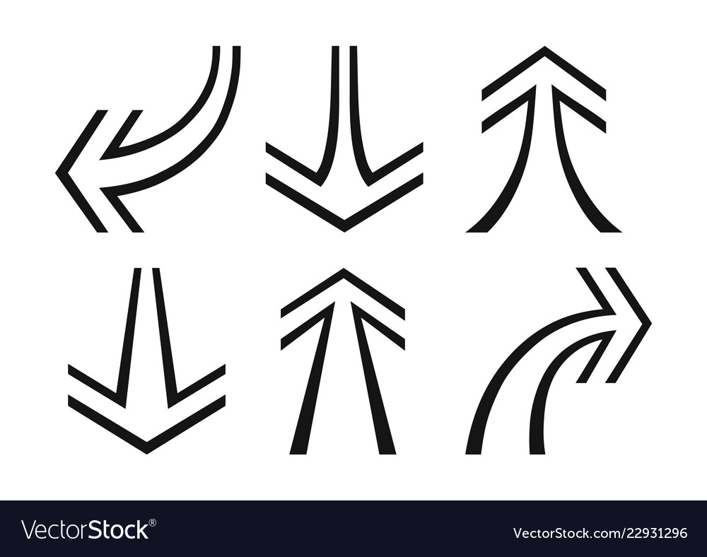 Set of arrows pointers