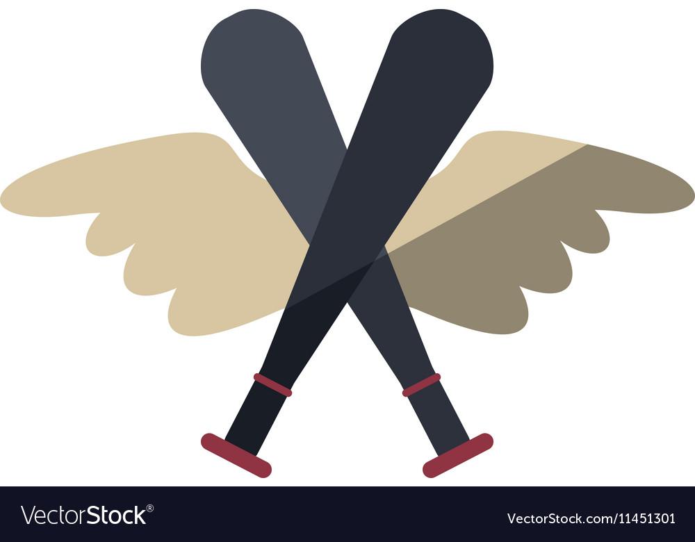 Baseball bat isolated icon