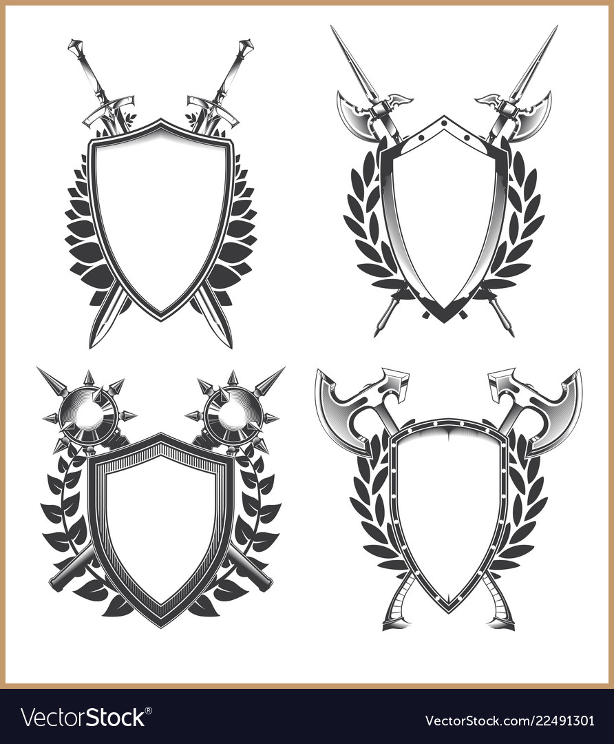 Coat Of Arms Template Vector Image
