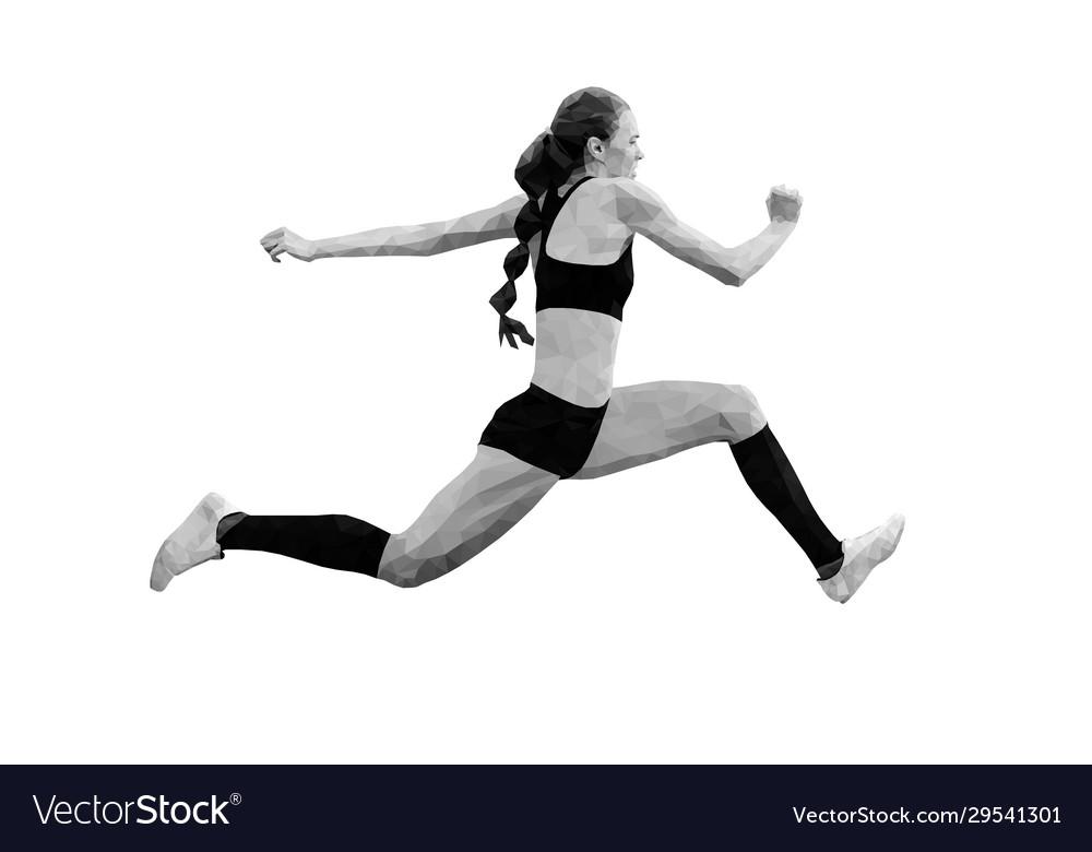 Female athlete jumper triple jump