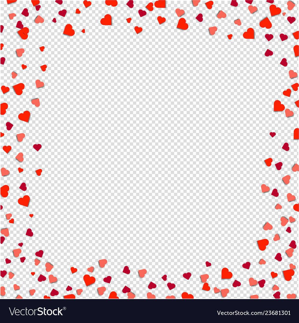 Hearts borders isolated transparent background