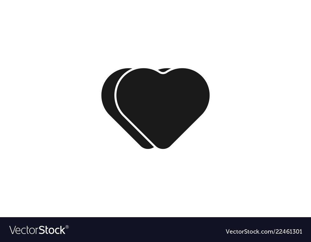 Minimalist black love icon logo inspiration