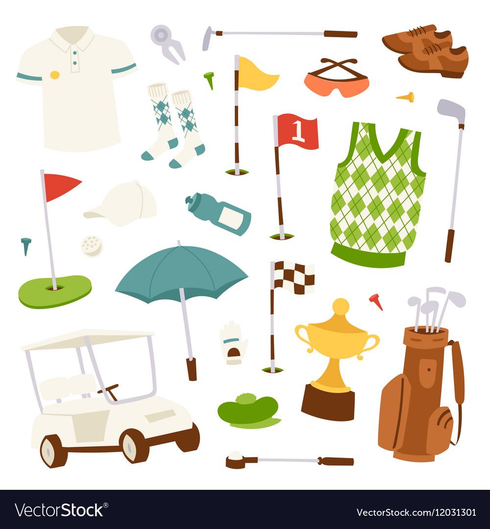 Set of golf icons