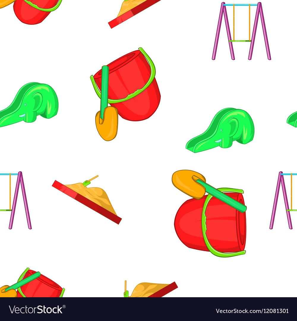 Swings for kid pattern cartoon style