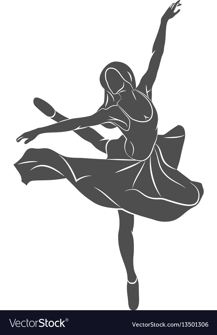 Ballerin dancer abstract