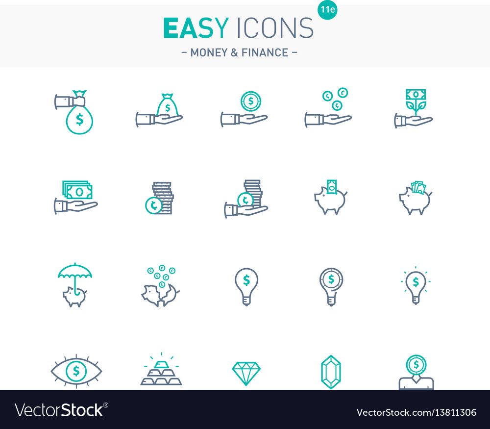 Easy icons 11e money