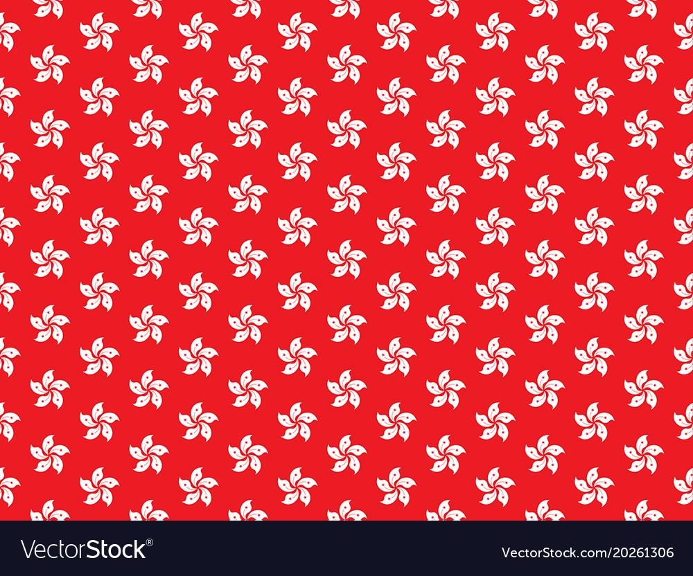 Hongkong orchid tree flag abstract seamless