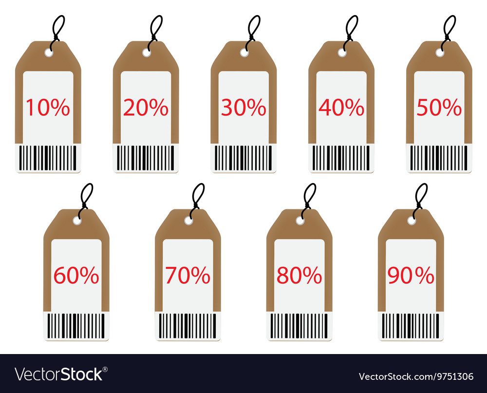 Label with discount