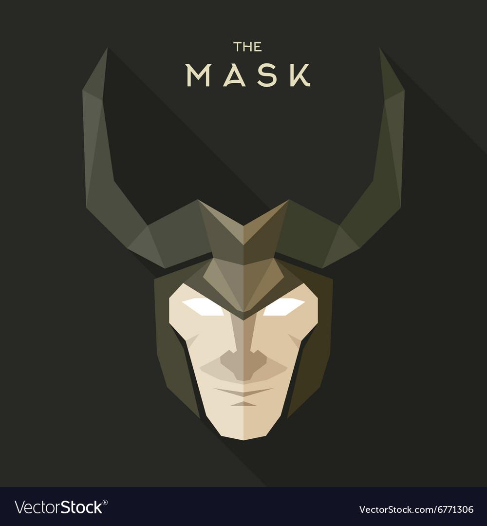 Mask hero into flat style graphics art vector image