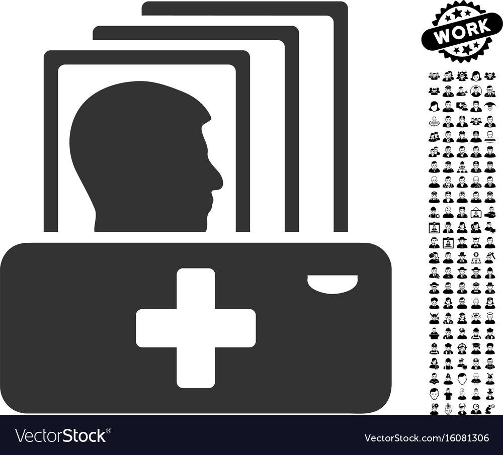 Patient catalog icon with professional bonus vector image